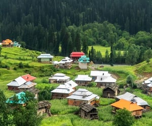 Houses, pakistan, and valley image