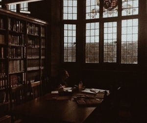 library, book, and aesthetic image