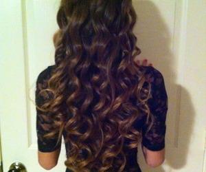 hair, curls, and long hair image