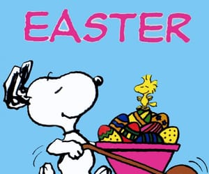 easter, peanuts, and snoopy image