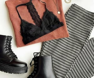 boots, fashion, and jumpers image