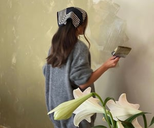 painting and girl image
