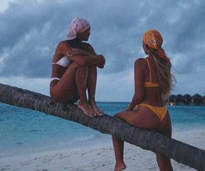 bikini, body, and long hair image
