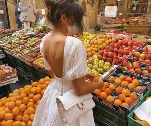 dress, fashion, and fruit image