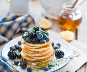 blueberry, breakfast, and food image