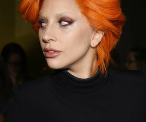 dyed hair, hairstyle, and orange image