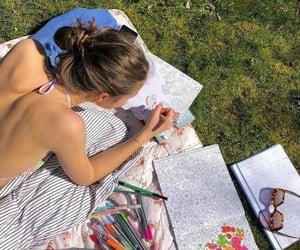 art, summer, and girl image