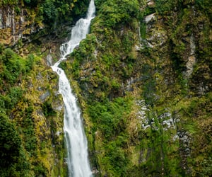 waterfall, bhutan, and southern asia image