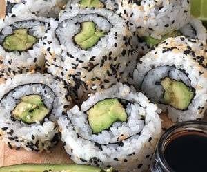 food, sushi, and green image