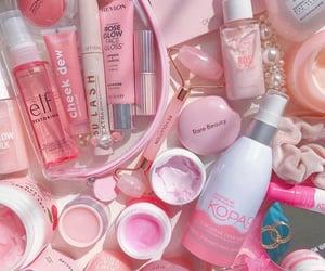 mac cosmetics, pink, and white image