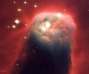 nasa, hubble telescope, and the cone nebula image