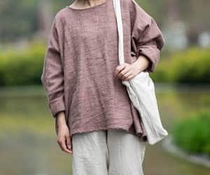 loose top, long sleeves top, and malieb image