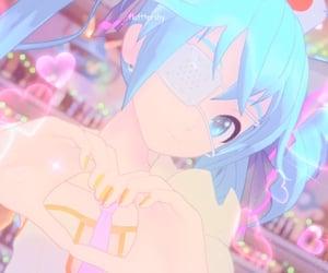 hatsune miku, vocaloid icon, and lovecore image