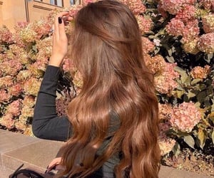 hair, beauty, and flowers image