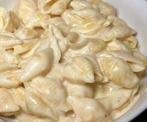 food, pasta, and cream image