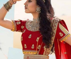 bride, lehenga, and weddingphotography image