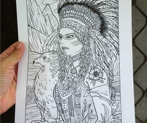 beautiful girl, coloring pages, and doodleart image