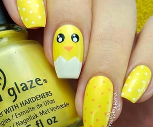Chick, easter, and nails image