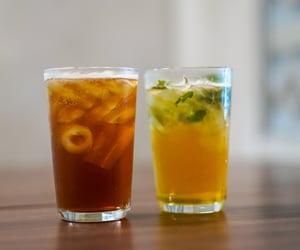 basil, drink, and mango image