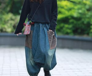 large size trousers, etsy, and loose pants image