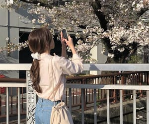 aesthetic, flowers, and girl image