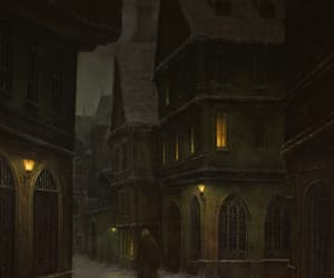 alley, night, and oil image