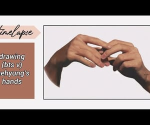 taehyung, bts taehyung, and taehyung hands image