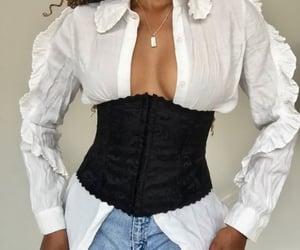 coachella, corset, and gold image