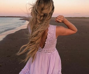 audrey, beach, and blonde image
