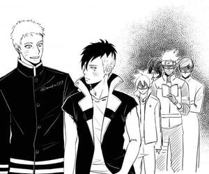 gaara, manga, and sasuke uchiha image