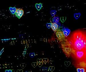 black, header, and hearts image