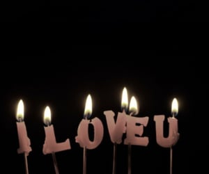 candle, love, and pink image