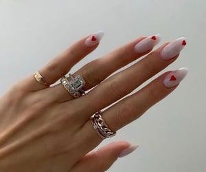 nails, hearts, and nail art image