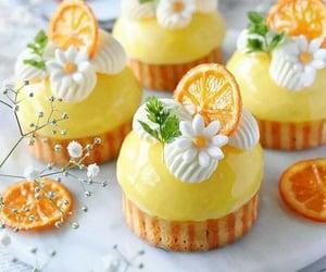 wallpaper, cake, and orange image