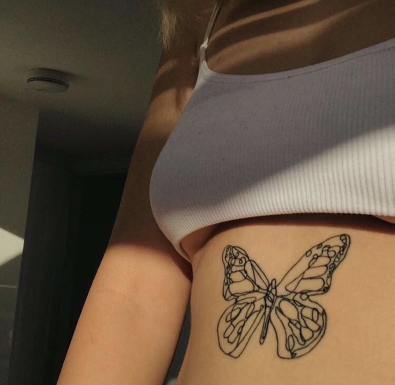 tattoo, body, and butterfly image