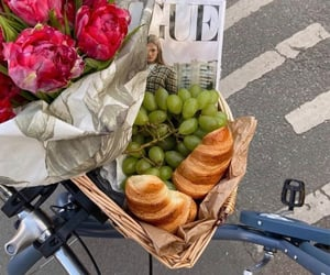bike, croissant, and vogue image