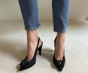 fashion, shoes, and YSL image