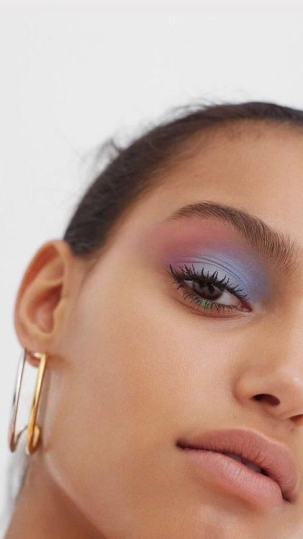 makeup, pastel, and purple image