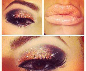 beautiful, lips, and make up image