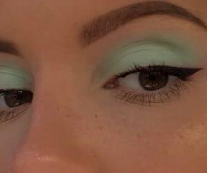 makeup, green, and eyeshadow image