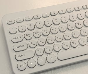 white, aesthetic, and keyboard image