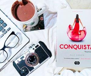 book, conquista, and crossed image