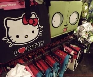 emo, goth, and hello kitty image