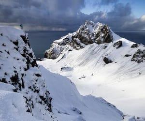climbing, horizon, and mountains image