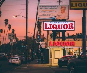 california, highway, and liquor store image