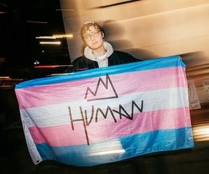 flag, pride, and Transgender image