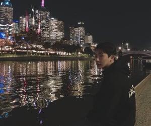 korea, night city, and wonho image