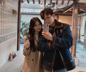 korean couple, ulzzangs, and couple goals image
