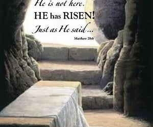 april, bible, and he is risen image