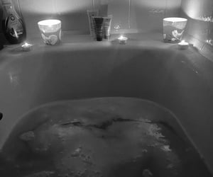 artistic, bath, and candles image